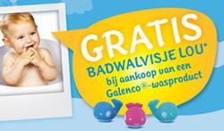 Gratis badwalvisje bij aankoop van 1 Galenco® baby-WAS referentie [pub]